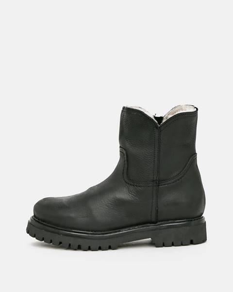 Čierna zimná obuv OJJU