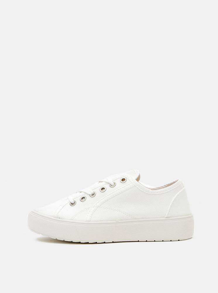 OJJU Biele dámske tenisky na platforme OJJU