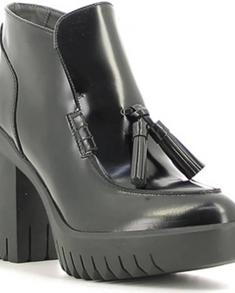 Čierne topánky Alberto Guardiani