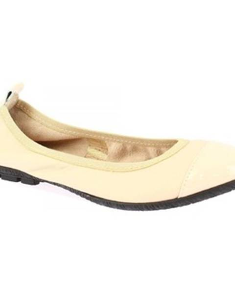 Béžové balerínky Leonardo Shoes