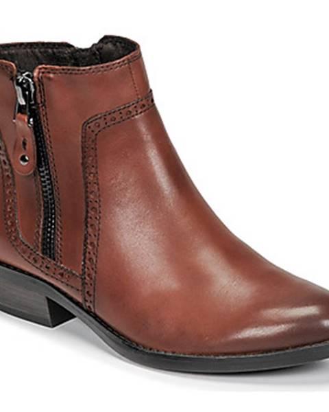 Hnedé topánky Marco Tozzi