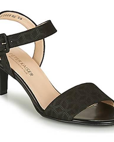 Čierne sandále Peter Kaiser