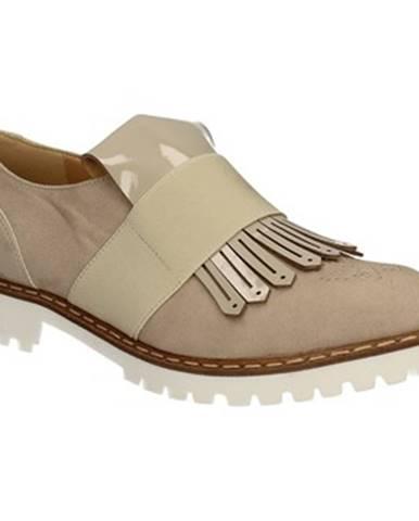 Béžové mokasíny Grace Shoes
