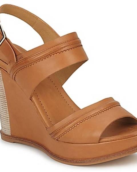 Hnedé sandále Zinda