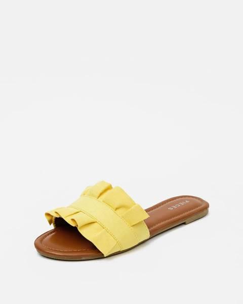 Žlté papuče Pieces