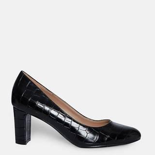 Čierne lodičky s hadím vzorom Dorothy Perkins