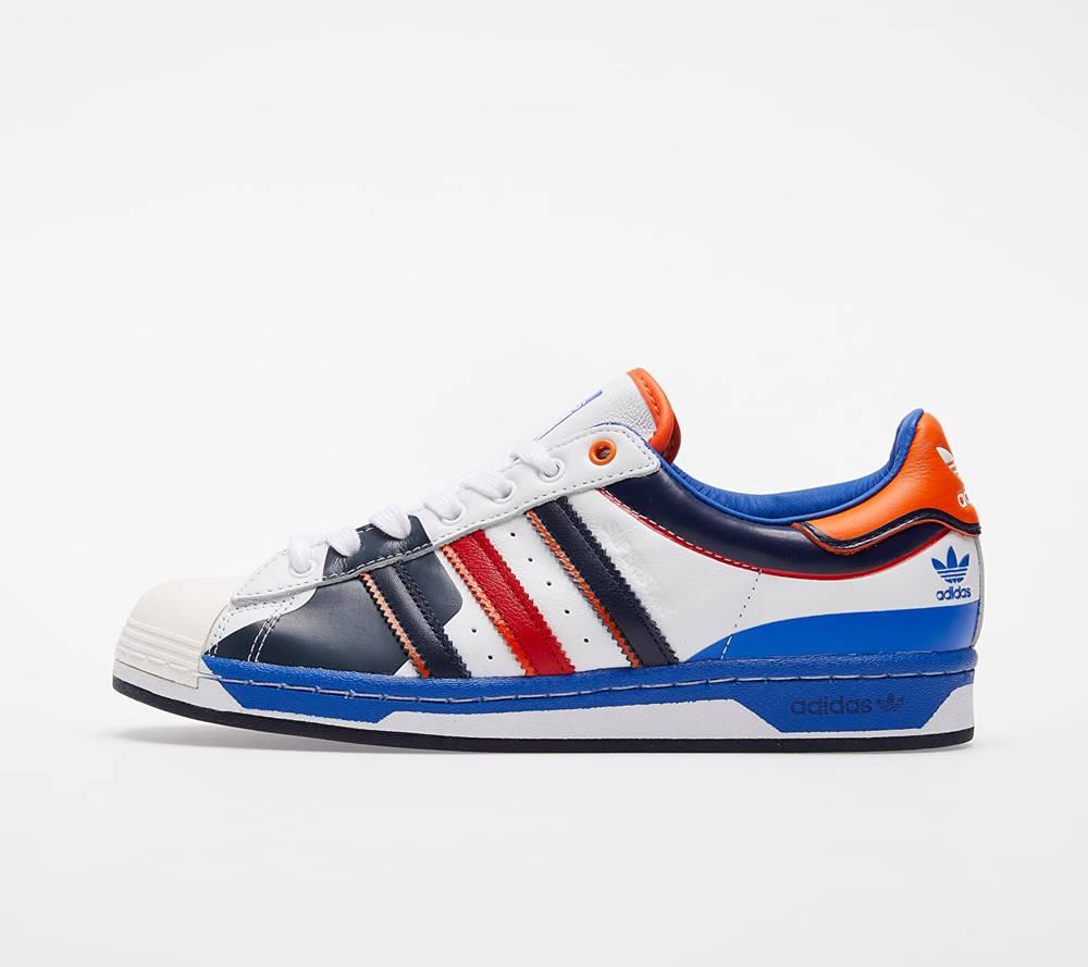 adidas Originals adidas Superstar Ftwr White/ Blue/ Scarlet