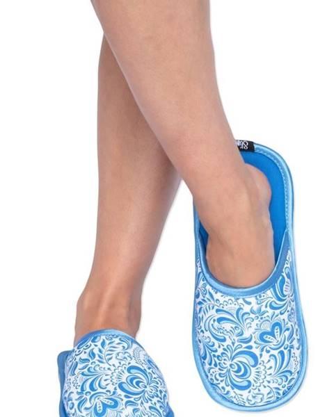 Modré papuče slippsy