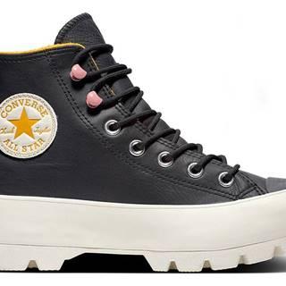 Converse čierne tenisky na platforme kožené Chuck Taylor All Star Lugged Winter