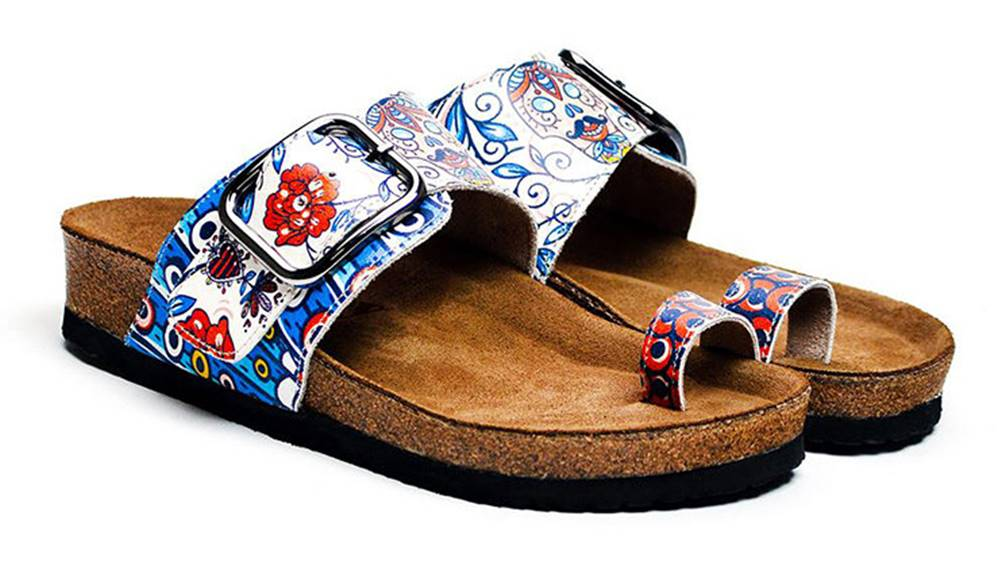 calceo Calceo modré šľapky Thong Sandals Blue Dream