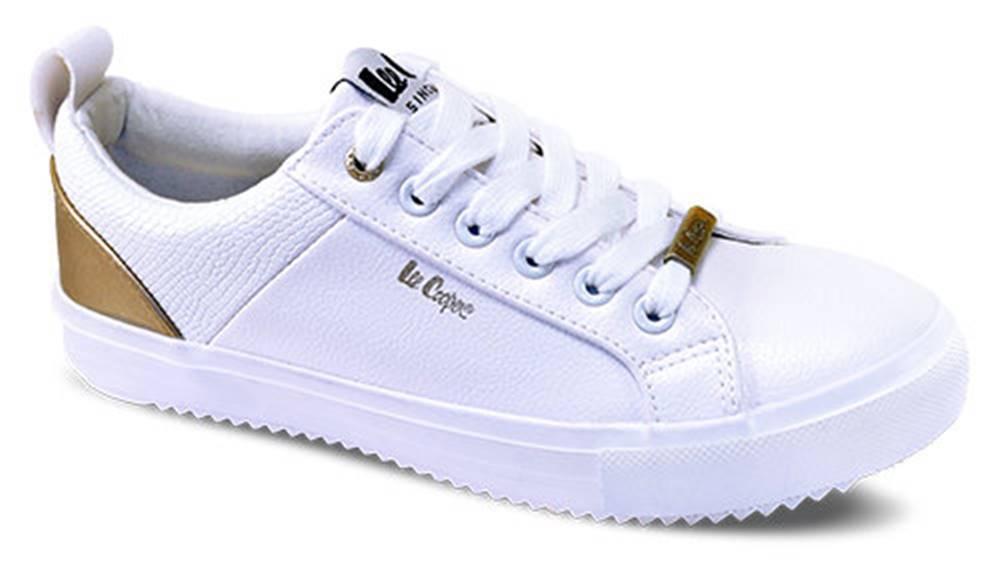 lee cooper Lee Cooper biele tenisky White/Gold