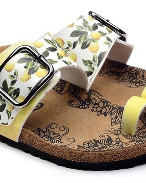 Žlté sandále calceo