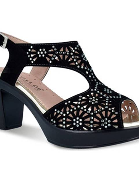 Čierne sandále Pitillos