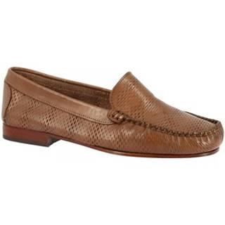 Mokasíny Leonardo Shoes  2803 VITELLO CAPPUCCINO
