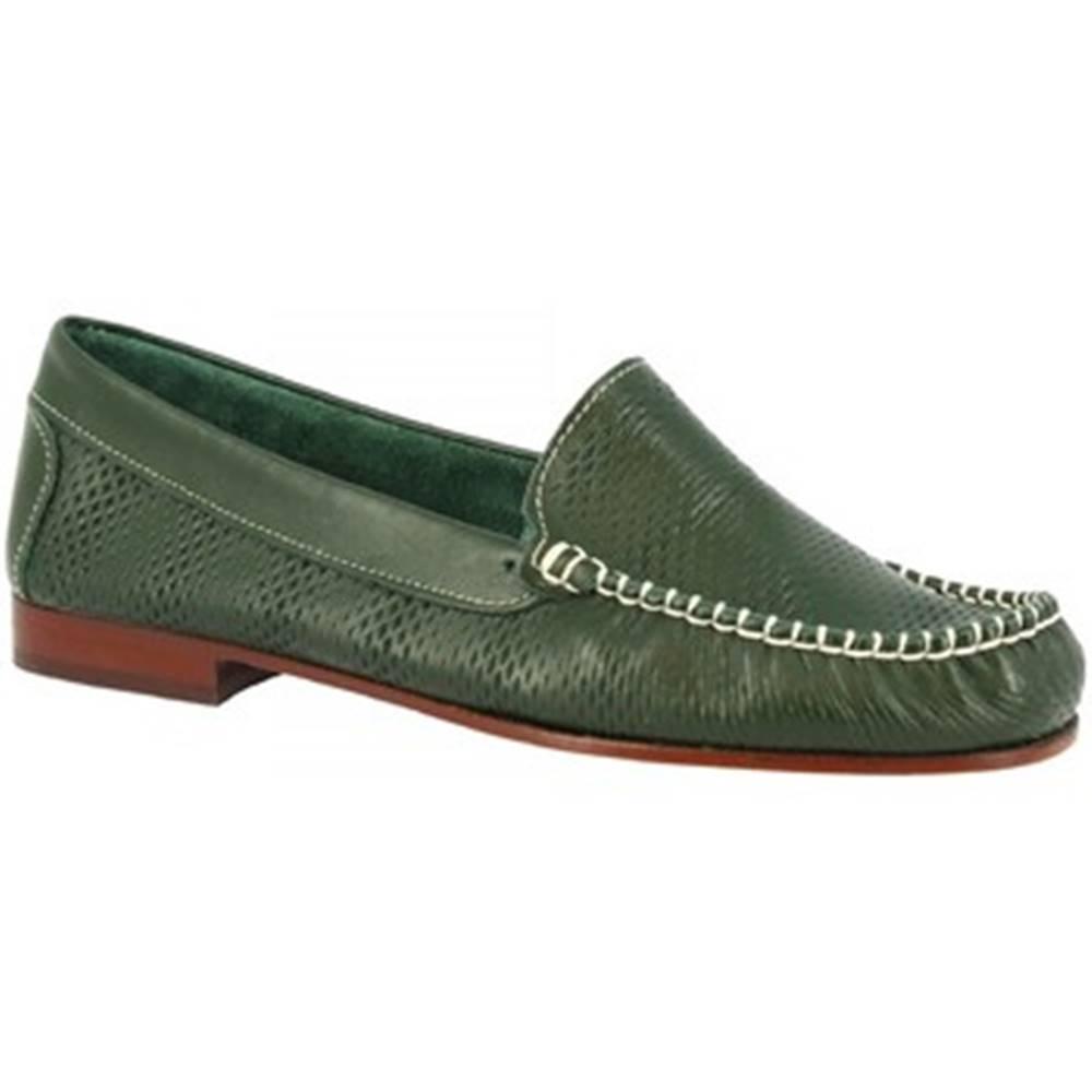 Leonardo Shoes Mokasíny Leonardo Shoes  2803 VITELLO VERDE