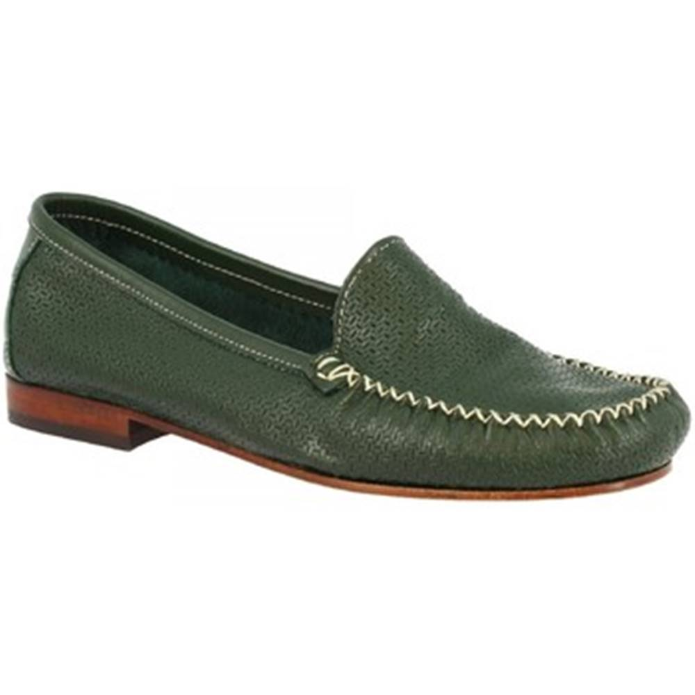 Leonardo Shoes Mokasíny Leonardo Shoes  580 VITELLO VERDE