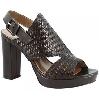 Sandále Leonardo Shoes  S287 KONS NERO