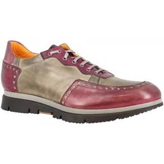 Derbie Leonardo Shoes  351-69 GRIGIO BORDO