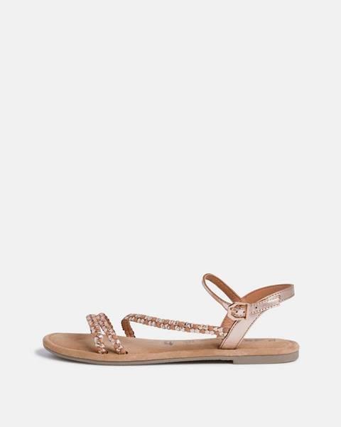 Zlatoružové sandále Tamaris