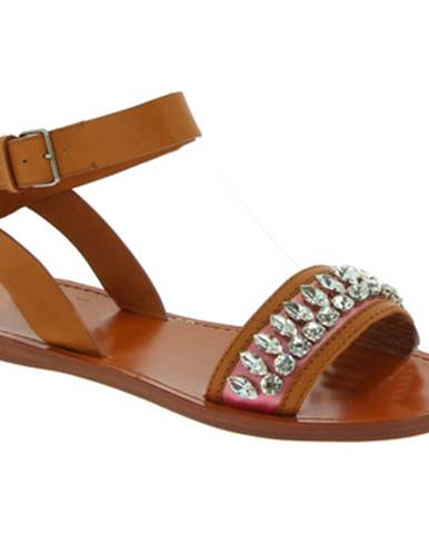 Béžové sandále Miu Miu