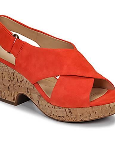 Oranžové sandále Clarks