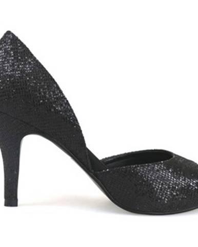 Čierne lodičky Haute Couture