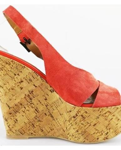 Červené sandále Jeannot