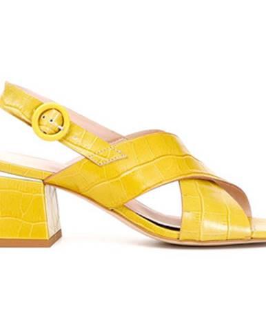Žlté sandále Café Noir