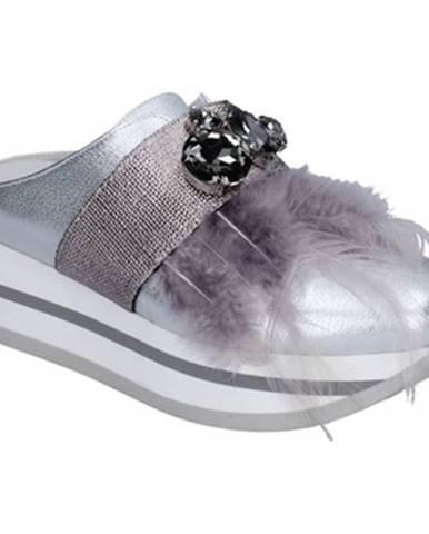 Strieborné topánky Jeannot