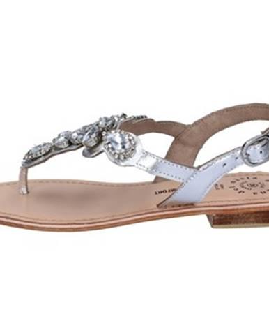 Strieborné sandále Adriana Del Nista