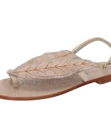 Béžové sandále Eddy Daniele