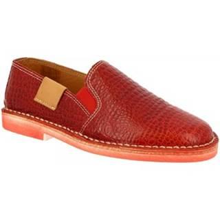Slip-on Leonardo Shoes  1000 COCCO ROSSO DONNA