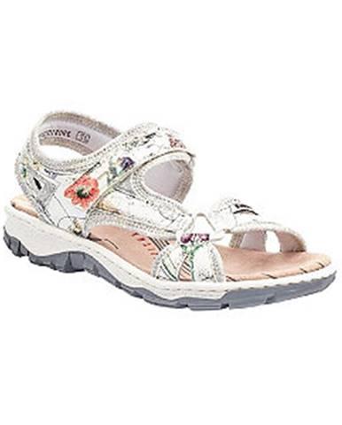 Strieborné sandále Rieker
