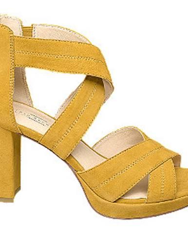 Žlté sandále 5th Avenue