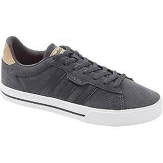 Tmavosivé kožené tenisky Adidas Daily 3.0