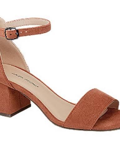Oranžové sandále Claudia Ghizzani