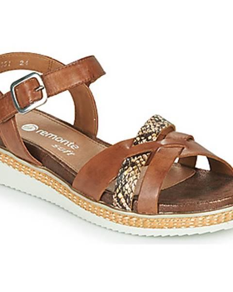 Hnedé sandále Remonte Dorndorf