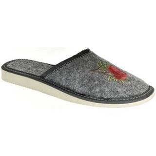 Papuče John-C  Dámske sivé papuče DAJANA