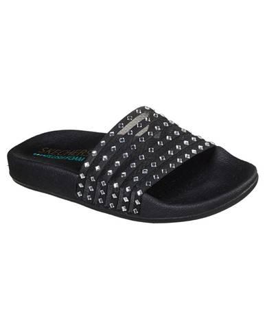 Čierne papuče Skechers
