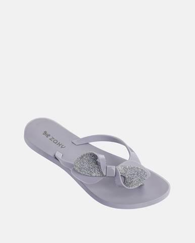 Svetlofialové papuče Zaxy