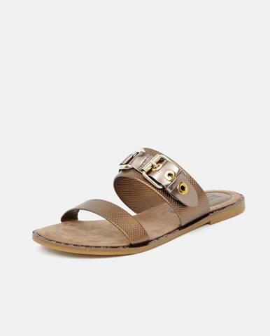 Bronzové papuče Replay