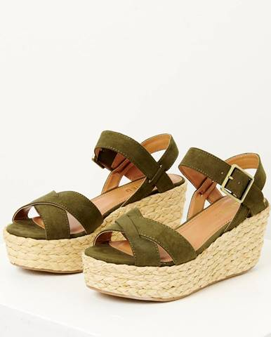 Zelené sandále CAMAIEU