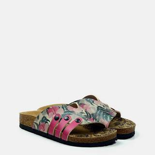 farebné šľapky Casual Slippers Hibiscus