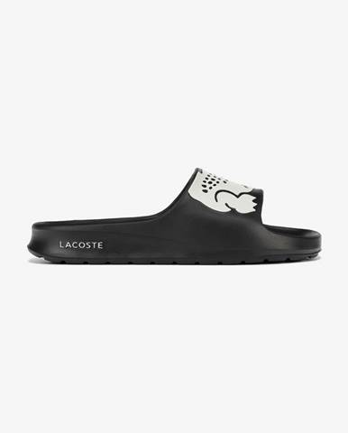 Čierne papuče Lacoste