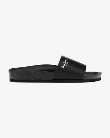 Čierne papuče Pepe jeans