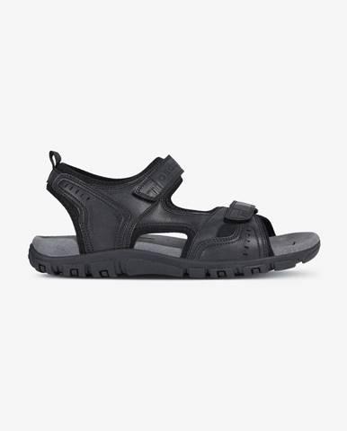 Čierne papuče Geox