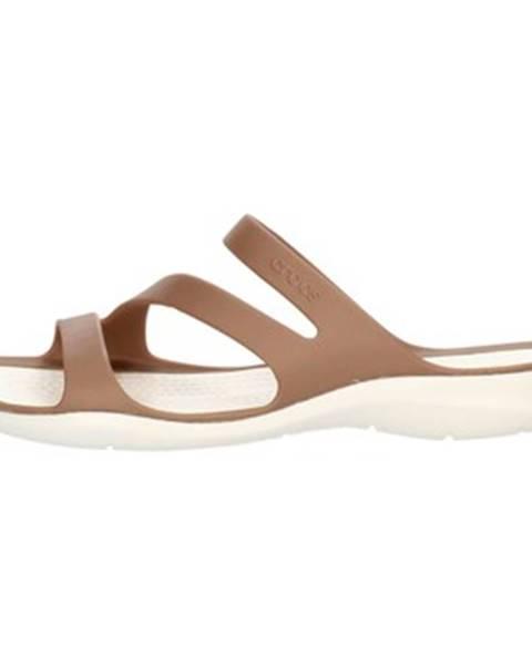 Hnedé sandále Crocs