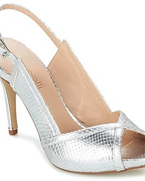 Strieborné topánky Fericelli