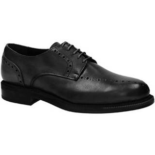 Derbie Leonardo Shoes  851GO PE VITELLO NERO