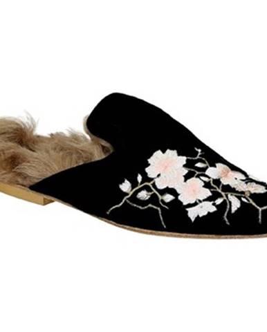 Čierne papuče Gia Couture